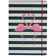 Buy Go Stationery A5 Stripe Flamingo 2017 Diary Online at johnlewis.com