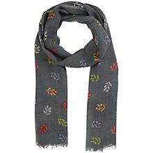 Buy Seasalt Berry Bunch Print Scarf, Grey Green/Multi Online at johnlewis.com