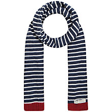 Buy Seasalt Sailor Scarf, Breton Mix French Navy Online at johnlewis.com