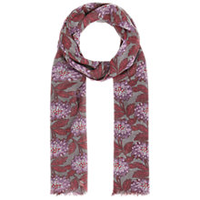 Buy Seasalt Pretty Printed Scarf, Winter Bloom Carnelian Online at johnlewis.com