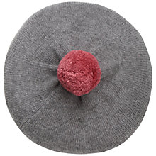 Buy Seasalt Trevelver Pom Pom Beret, Grey Online at johnlewis.com