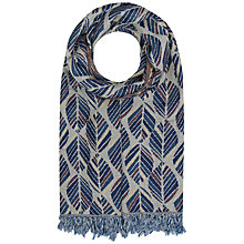 Buy Seasalt Awakening Shawl, Leaf Lines Fishscale Online at johnlewis.com
