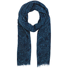 Buy Seasalt Crabapple Print Scarf, Indigo Online at johnlewis.com