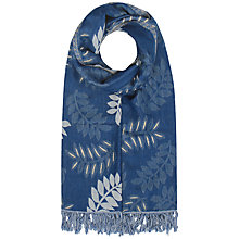 Buy Seasalt Awakening Shawl, Leaf Frond Marine Online at johnlewis.com