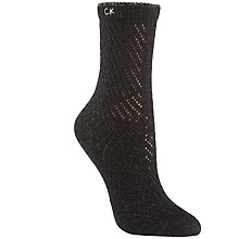 Buy Calvin Klein Crochet Ankle Socks, Black Online at johnlewis.com
