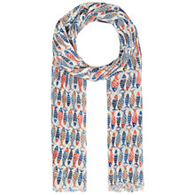 Buy Seasalt Pretty Printed Scarf, Schooling Fish Ecru Online at johnlewis.com