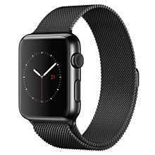 Buy Apple Watch 1st Gen 42mm Space Black Stainless Steel Case & Milanese Loop, Space Black Online at johnlewis.com
