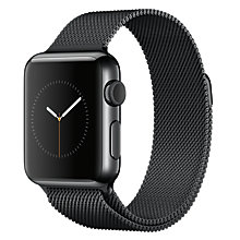 Buy Apple Watch 1st Gen 38mm Space Black Stainless Steel Case & Milanese Loop, Space Black Online at johnlewis.com