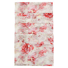 Buy Hobbs Watercolour Floral Print Silk Scarf, Grapefruit/Multi Online at johnlewis.com