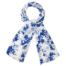 Buy Phase Eight Delft Print Scarf, Blue/Multi Online at johnlewis.com