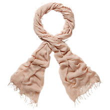 Buy Pure Collection Piper Ultra Soft Scarf, Warm Sand Online at johnlewis.com