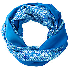 Buy Pure Collection Eleanor Geo Border Print Snood, Azure Online at johnlewis.com