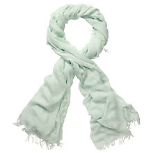 Buy Pure Collection Alyssa Ultra Soft Scarf, Palest Green Online at johnlewis.com