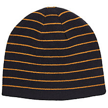 Buy Kin by John Lewis Reversible Stripe Beanie, One Size, Navy Online at johnlewis.com