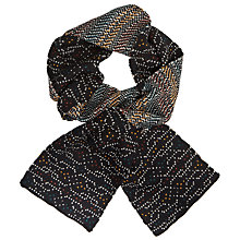 Buy Kin by John Lewis Birdseye Scarf, Black Online at johnlewis.com