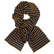 Buy Kin by John Lewis Bright Stripe Scarf, Navy Online at johnlewis.com