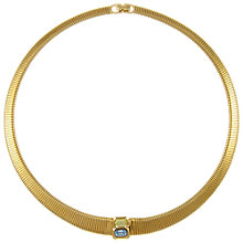 Buy Eclectica Vintage 1970s Christian Dior Gold Plated Glass Stone Collar Necklace, Crystal Blue/Citrine Online at johnlewis.com