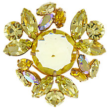 Buy Eclectica Vintage 1950s Regency Gold Plated Glass Stone Brooch, Citrine Online at johnlewis.com