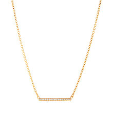 Buy kate spade new york Glass Stone Bar Pendant Necklace, Rose Gold Online at johnlewis.com