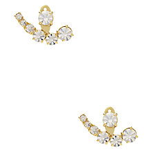 Buy kate spade new york Graduating Glass Stone Ear Jackets, Gold/Clear Online at johnlewis.com