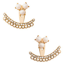 Buy kate spade new york Double Row Faux Pearl and Glass Stone Ear Jackets, Gold/Cream Online at johnlewis.com