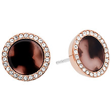 Buy Michael Kors Disc Stud Earrings, Rose Gold/Tortoise Online at johnlewis.com