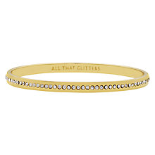Buy kate spade new york All That Glitters Bangle, Gold Online at johnlewis.com