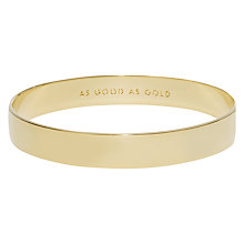 Buy kate spade new york As Good As Gold Bangle, Gold Online at johnlewis.com