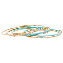 Buy kate spade new york Multi Stackable Bangle, Gold/Turquoise Online at johnlewis.com