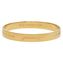 Buy kate spade new york Engraved Bridesmaid Bangle Online at johnlewis.com