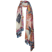 Buy Fat Face Geo Patchwork Scarf, Multi Online at johnlewis.com