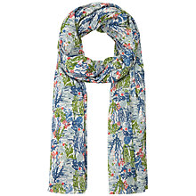 Buy Seasalt Crayon Sea Print Scarf, Ecru Online at johnlewis.com