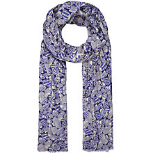 Buy Seasalt Shell Marine Print Scarf, Navy/White Online at johnlewis.com