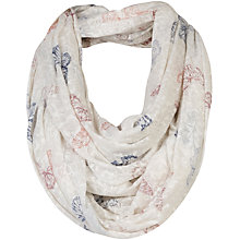 Buy Fat Face Butterfly Burnout Snood, Egg Shell Online at johnlewis.com