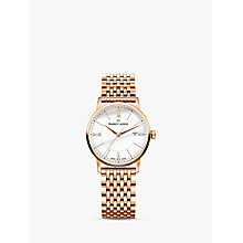 Buy Maurice Lacroix EL1094-PVP06-111-1 Women's Eliros Date Bracelet Strap Watch, Rose Gold/White Online at johnlewis.com