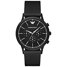 Buy Emporio Armani AR2498 Men's Chronograph Date Bracelet Strap Watch, Black Online at johnlewis.com
