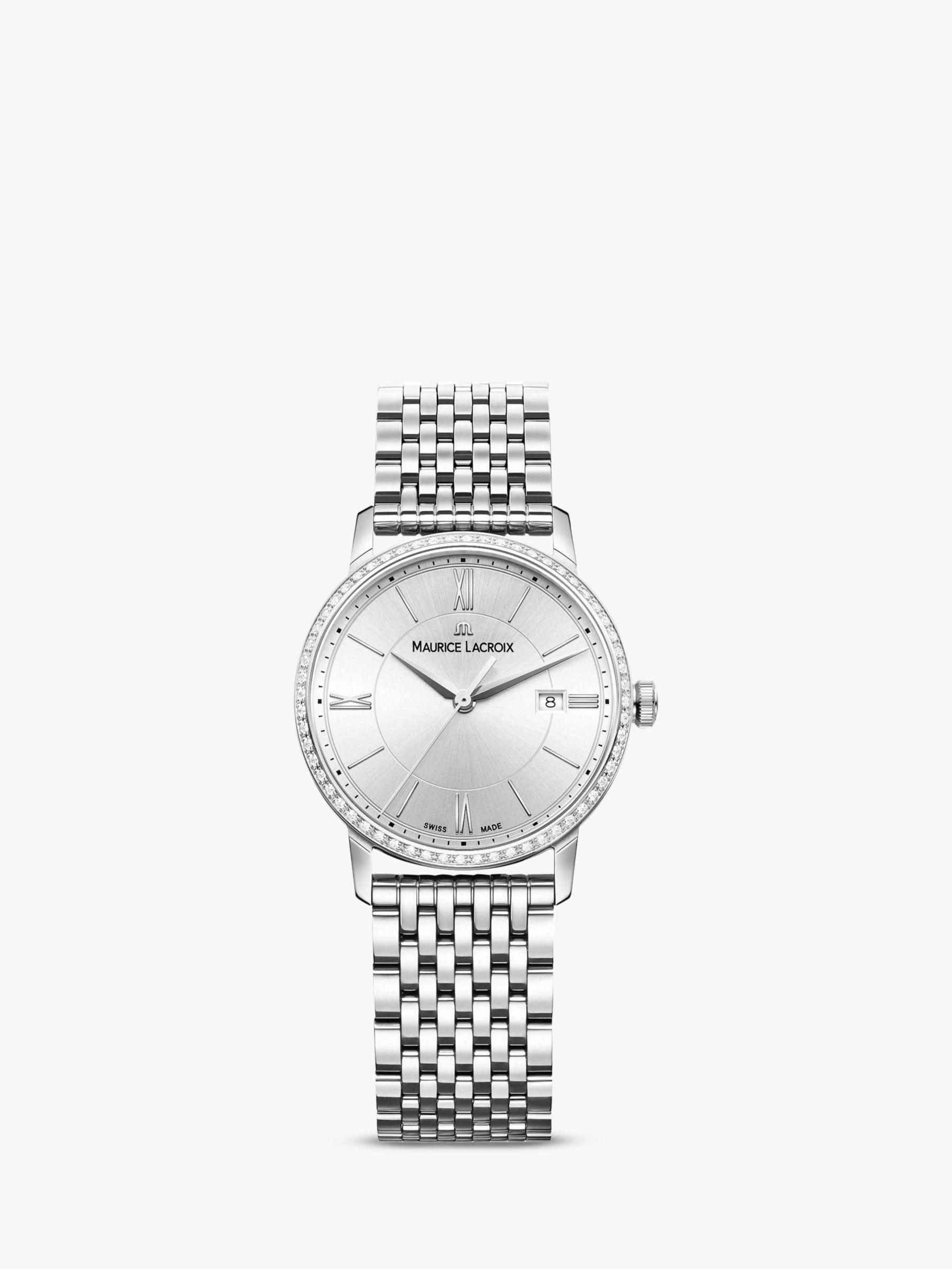 Maurice Lacroix Maurice Lacroix EL1094-SD502-110-1 Women's Eliros Diamond Date Bracelet Strap Watch, Silver