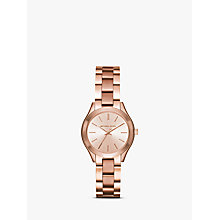 Buy Michael Kors Women's Mini Slim Runway Bracelet Strap Watch Online at johnlewis.com