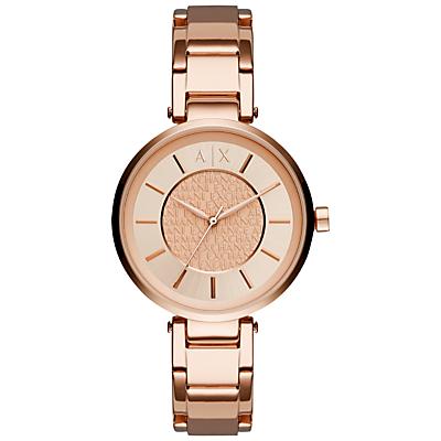Armani Exchange AX5317 Women's Bracelet Strap Watch, Rose Gold