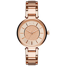Buy Armani Exchange AX5317 Women's Bracelet Strap Watch, Rose Gold Online at johnlewis.com