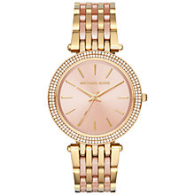 Buy Michael Kors MK3507 Women's Darci Two Tone Bracelet Strap Watch, Gold/Rose Gold Online at johnlewis.com