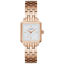 Buy kate spade new york KSW1132 Women's Washington Square Bracelet Strap Watch, Rose Gold/White Online at johnlewis.com