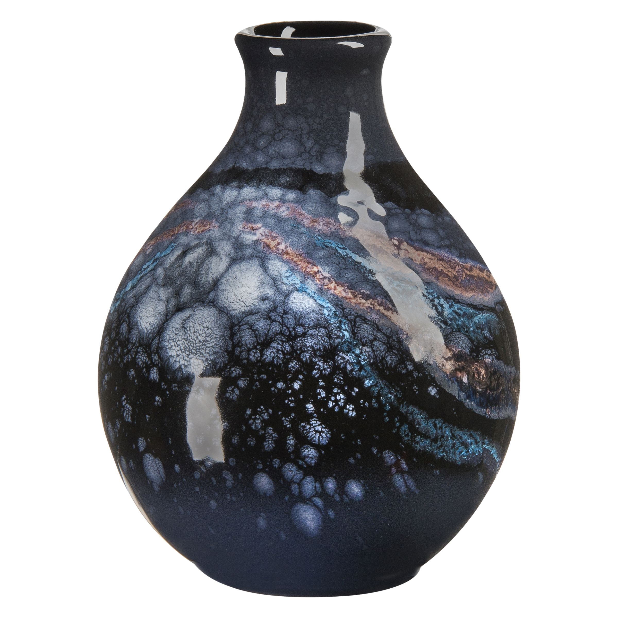 Poole Pottery Poole Pottery Celestial Bud Vase, Grey/ Blue