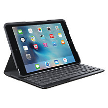 Buy Logitech Focus Protective Case with Integrated Keyboard for iPad mini 4, Black Online at johnlewis.com
