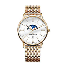 Buy Maurice Lacroix EL1108-PVP06-112-1 Men's Eliros Date Moonphase Bracelet Strap Watch, Rose Gold/Silver Online at johnlewis.com