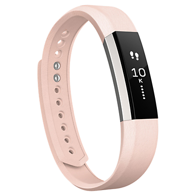Fitbit Alta Leather Wristband, Pink, Small