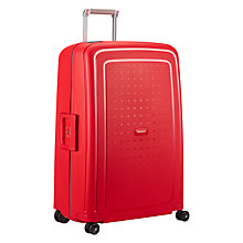 Buy Samsonite S'Cure 4-Wheel 75cm Large Suitcase, Red/Blue Online at johnlewis.com