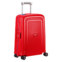 Buy Samsonite S'Cure Spinner 55cm Cabin Suitcase, Red/Blue Online at johnlewis.com