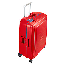 Buy Samsonite S-Cure 4-Wheel 69cm Medium Suitcase, Red/Blue Online at johnlewis.com
