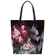 Buy Ted Baker Ethereal Posie Large Shopper Bag, Black Online at johnlewis.com